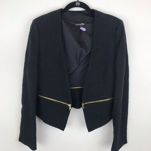 Express Black Blazer Gold Zipper Detail 10 E95